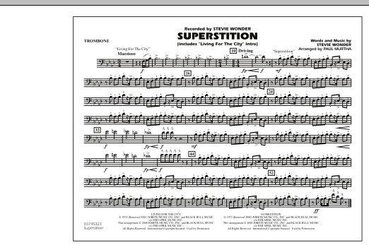 """Superstition (includes """"Living for the City"""" Intro) - Trombone (Marching Band)"""