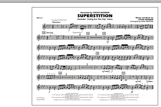 """Superstition (includes """"Living for the City"""" Intro) - Bells (Marching Band)"""