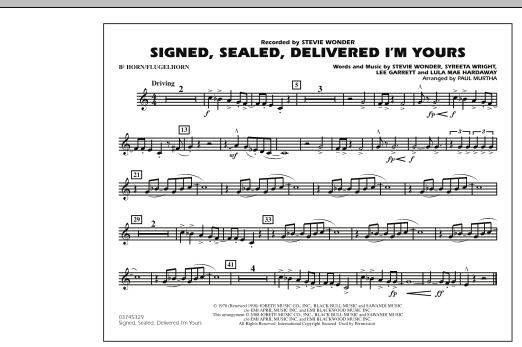 Signed, Sealed, Delivered I'm Yours - Bb Horn/Flugelhorn (Marching Band)