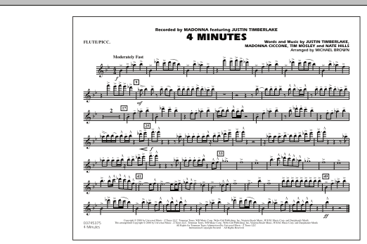 4 Minutes - Flute/Piccolo (Marching Band)