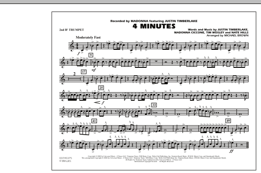 4 Minutes - 2nd Bb Trumpet (Marching Band)