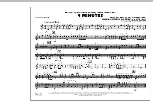 4 Minutes - 3rd Bb Trumpet (Marching Band)