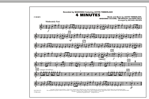 4 Minutes - F Horn (Marching Band)
