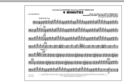 4 Minutes - 2nd Trombone (Marching Band)