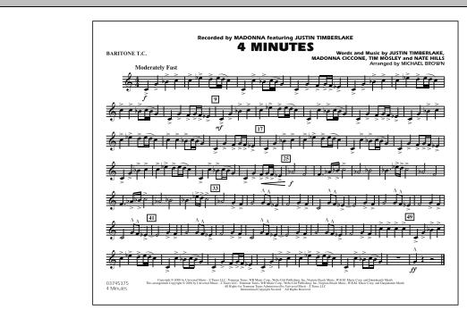 4 Minutes - Baritone T.C. (Marching Band)