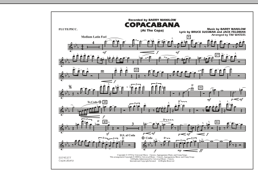 Copacabana (At the Copa) - Flute/Piccolo (Marching Band)