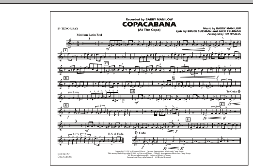 Copacabana (At the Copa) - Bb Tenor Sax (Marching Band)