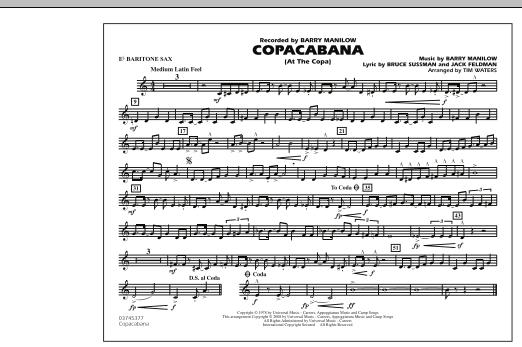 Copacabana (At the Copa) - Eb Baritone Sax (Marching Band)