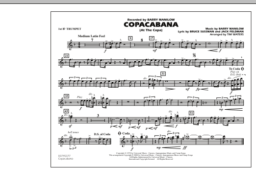 Copacabana (At the Copa) - 1st Bb Trumpet (Marching Band)