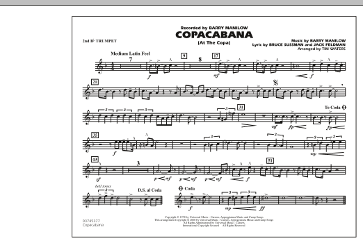 Copacabana (At the Copa) - 2nd Bb Trumpet (Marching Band)