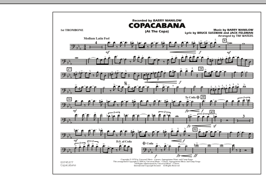 Copacabana (At the Copa) - 1st Trombone (Marching Band)