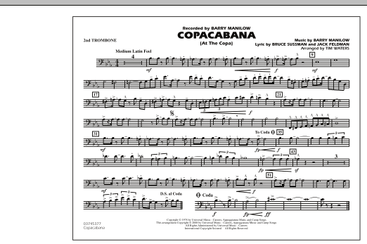 Copacabana (At the Copa) - 2nd Trombone (Marching Band)