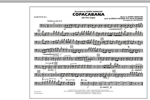 Copacabana (At the Copa) - Baritone B.C. (Marching Band)