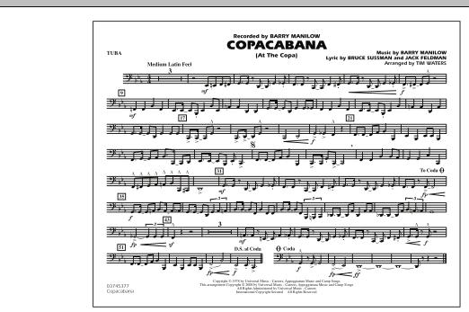 Copacabana (At the Copa) - Tuba (Marching Band)