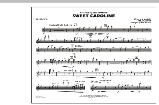 Sweet Caroline - Flute/Piccolo (Marching Band)