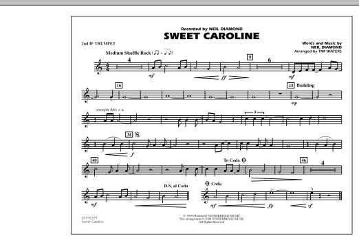 Sweet Caroline - 2nd Bb Trumpet (Marching Band)