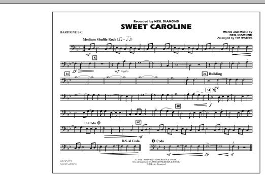 Sweet Caroline - Baritone B.C. (Marching Band)
