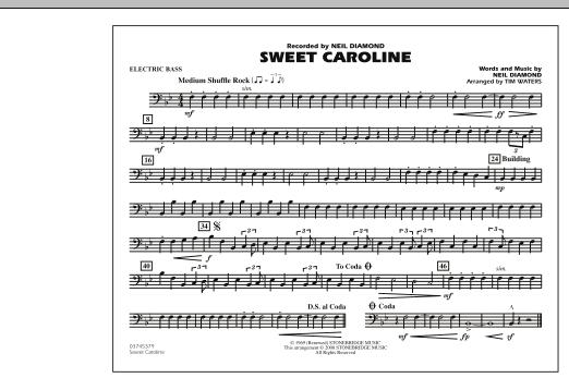 Sweet Caroline - Electric Bass (Marching Band)