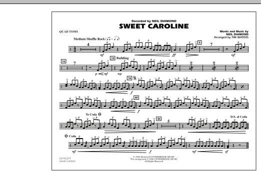 Sweet Caroline - Quad Toms (Marching Band)