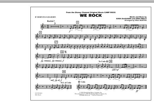 "We Rock (from Disney's ""Camp Rock"") - Bb Horn/Flugelhorn (Marching Band)"