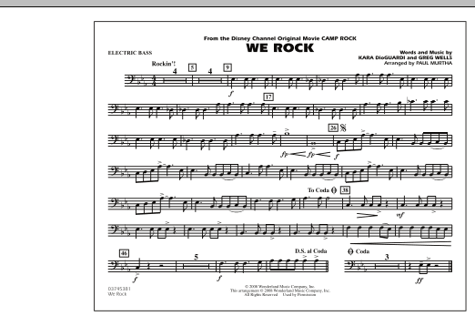 "We Rock (from Disney's ""Camp Rock"") - Electric Bass (Marching Band)"