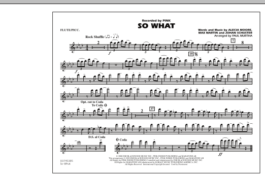 So What - Flute/Piccolo (Marching Band)