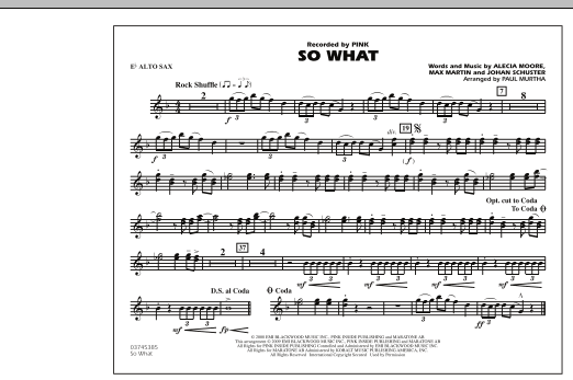 So What - Eb Alto Sax (Marching Band)