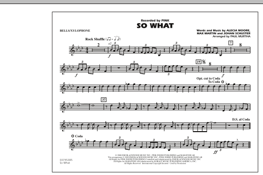 So What - Bells/Xylophone (Marching Band)