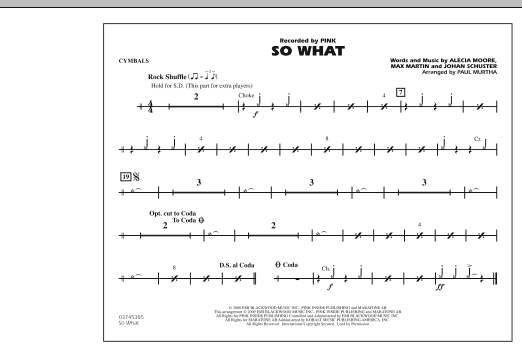 So What - Cymbals (Marching Band)