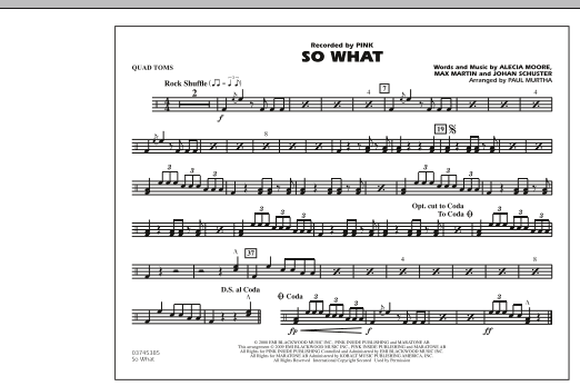 So What - Quad Toms (Marching Band)