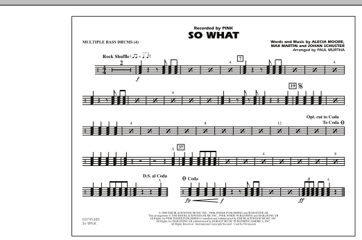 So What - Multiple Bass Drums (Marching Band)