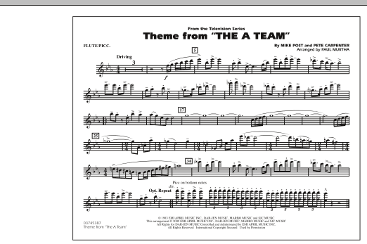 Theme from The A-Team - Flute/Piccolo (Marching Band)