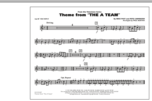 Theme from The A-Team - 2nd Bb Trumpet (Marching Band)