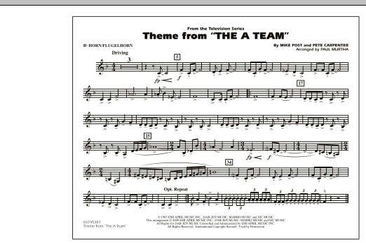 Theme from The A-Team - Bb Horn/Flugelhorn (Marching Band)