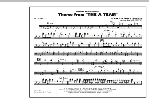 Theme from The A-Team - 1st Trombone (Marching Band)