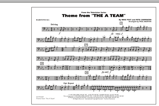 Theme from The A-Team - Baritone B.C. (Marching Band)