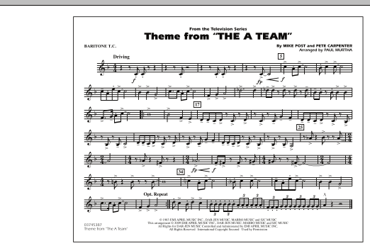 Theme from The A-Team - Baritone T.C. (Marching Band)