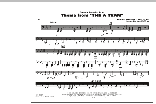 Theme from The A-Team - Tuba (Marching Band)