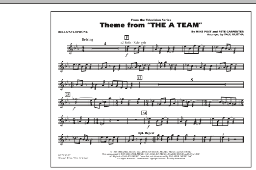 Theme from The A-Team - Bells/Xylophone (Marching Band)