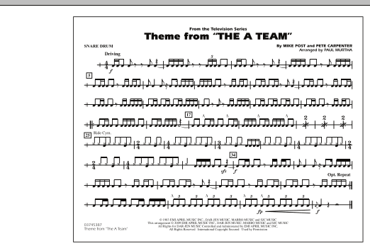 Theme from The A-Team - Snare Drum (Marching Band)