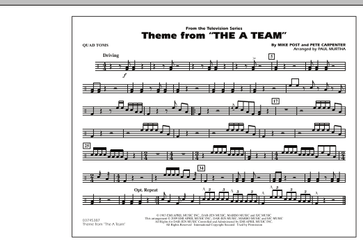 Theme from The A-Team - Quad Toms (Marching Band)