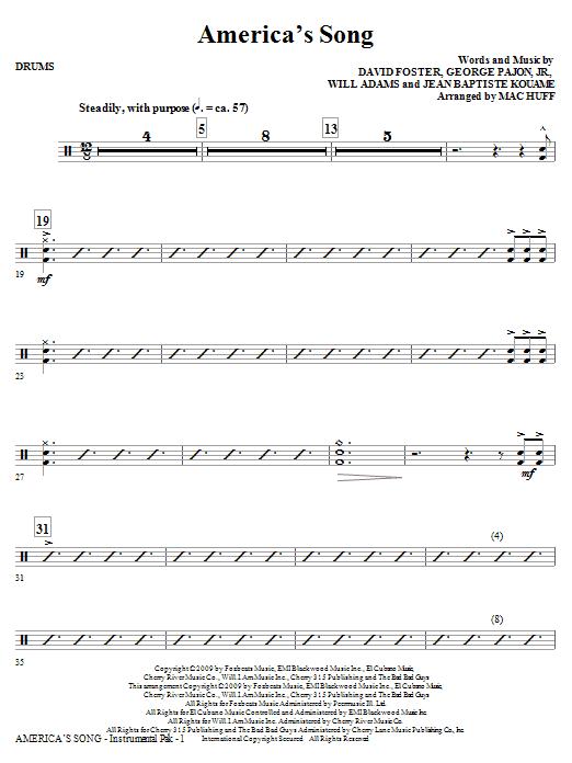 America's Song - Drums (Choir Instrumental Pak)