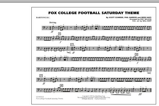 Fox College Football Saturday Theme - Baritone B.C. (Marching Band)