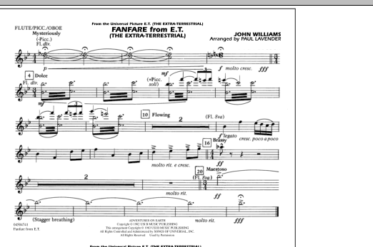 Fanfare from E.T. (The Extra-Terrestrial) - Flute/Picc./Oboe (Marching Band)