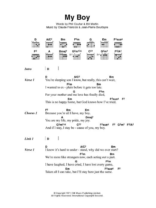 My Boy by Elvis Presley - Guitar Chords/Lyrics - Guitar Instructor