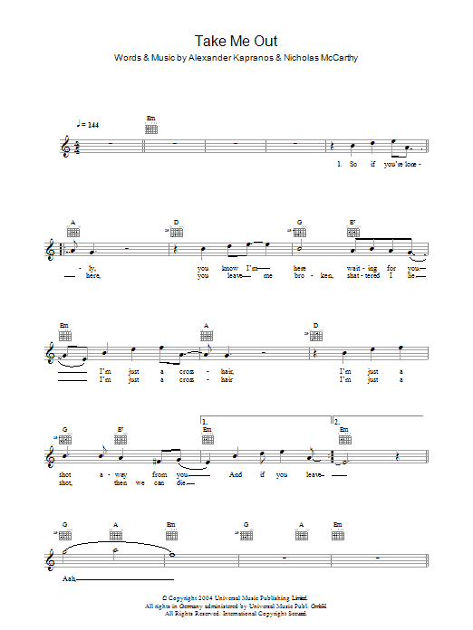Take Me Out Sheet Music