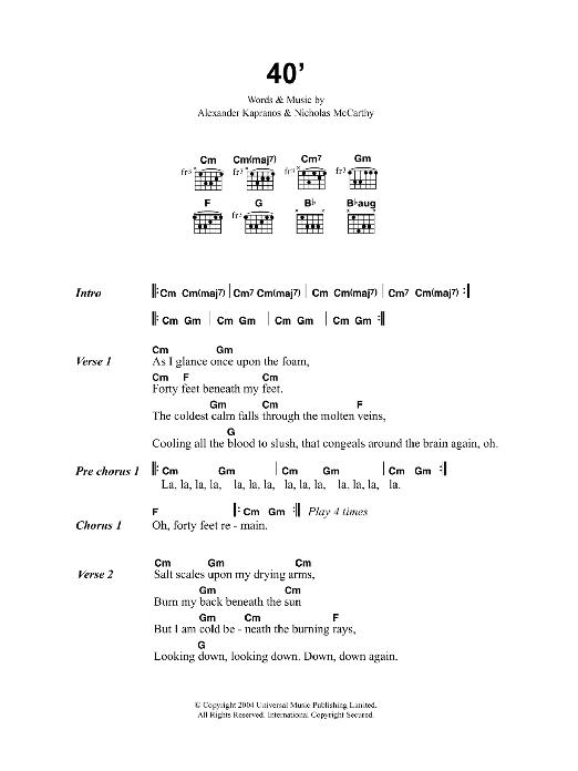 40' Sheet Music