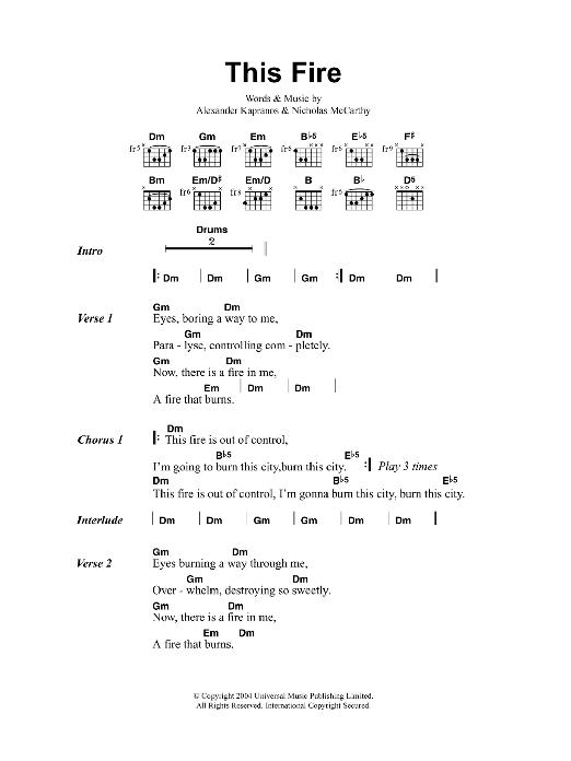 This Fire Sheet Music