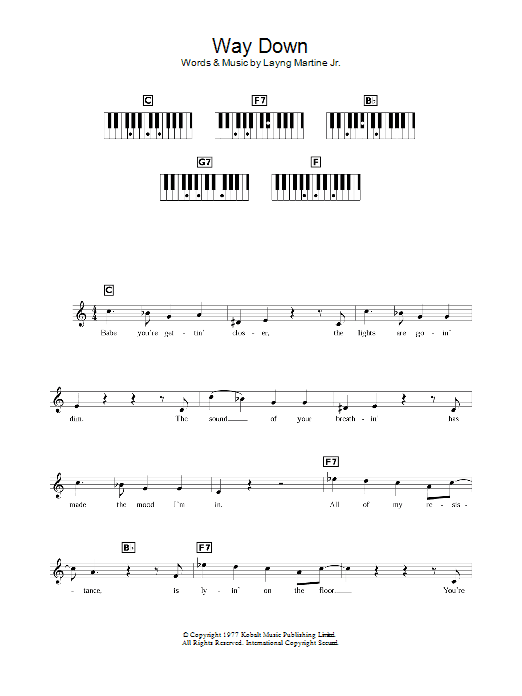 Way Down Sheet Music