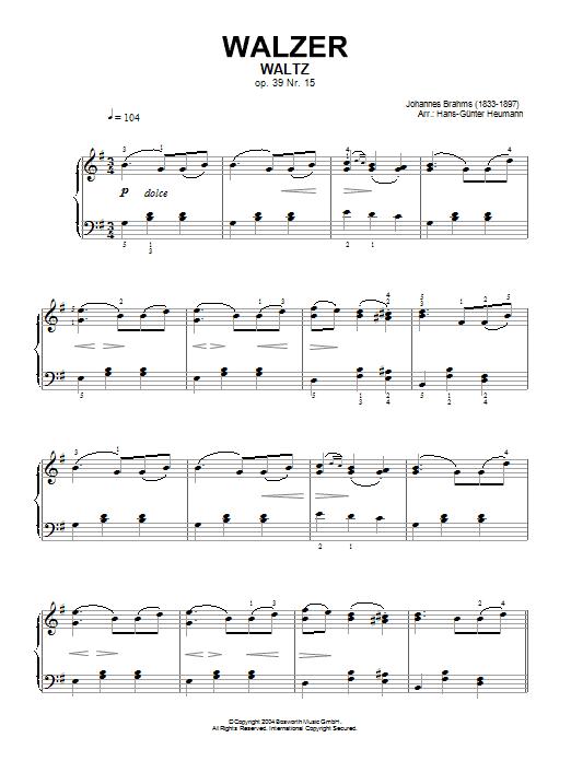 Waltz Op. 39, No. 15 (Piano Solo)